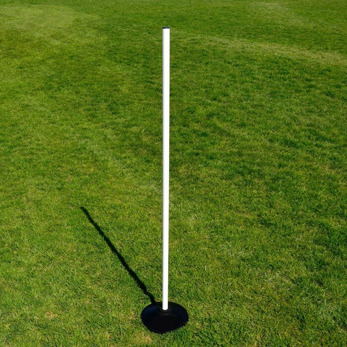 White Rounders Pole and Black Rubber Base