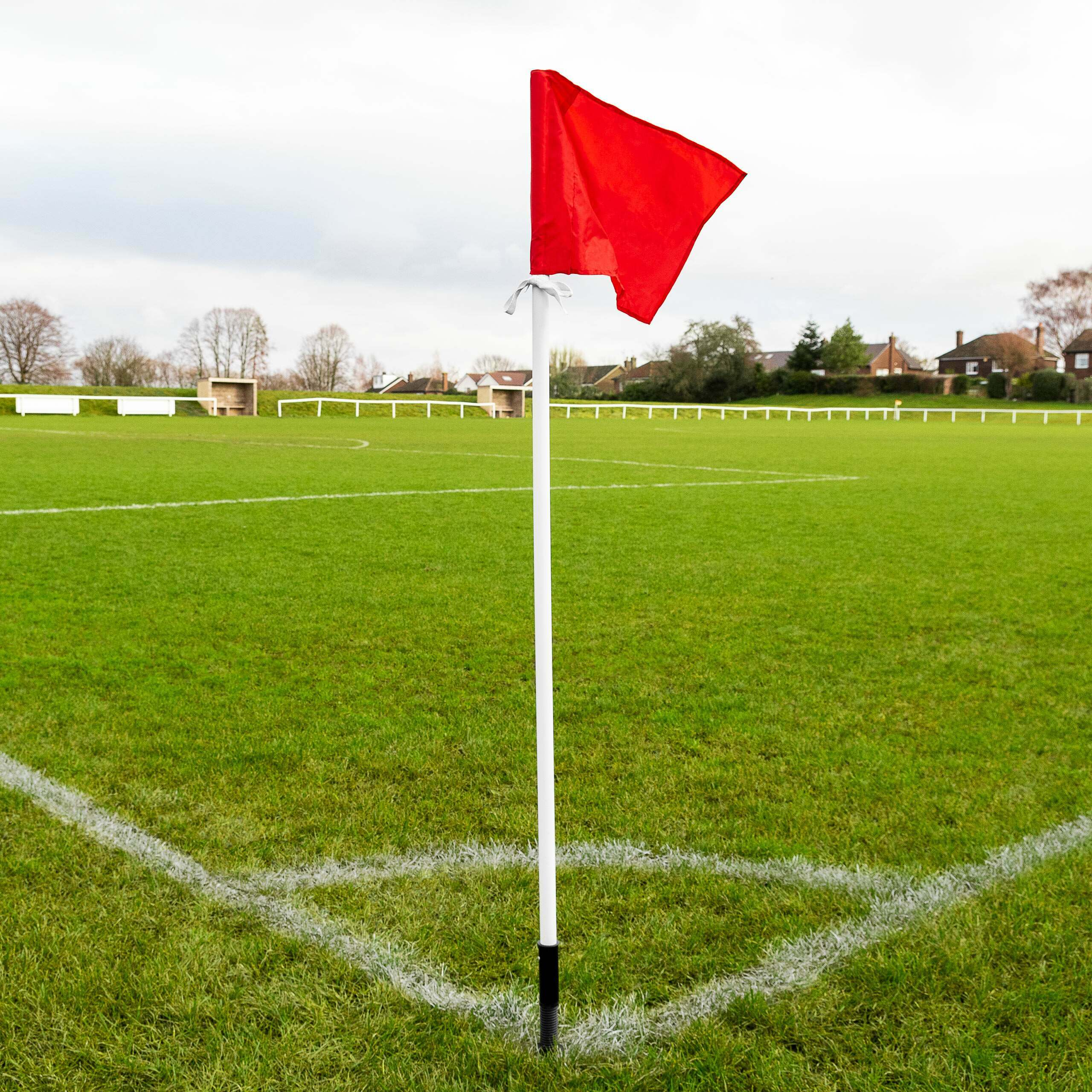 Weatherproof Spring Loaded Rugby Corner Poles | Rugby Corner Flags