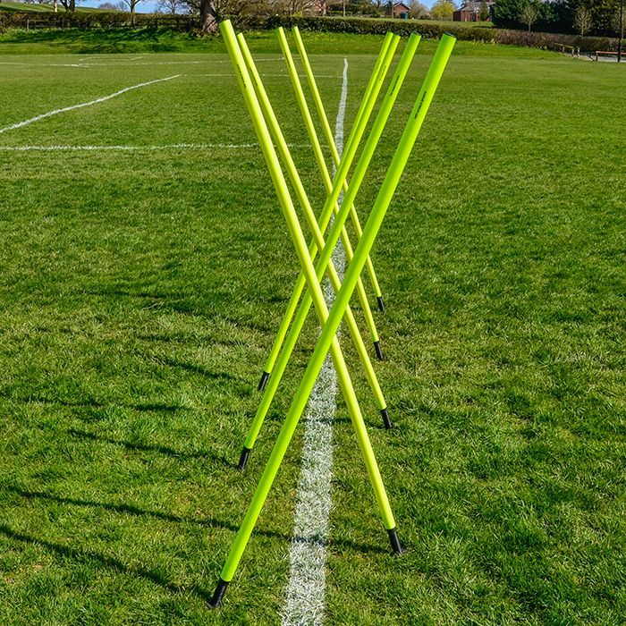 Football Slalom Poles For Fitness Training