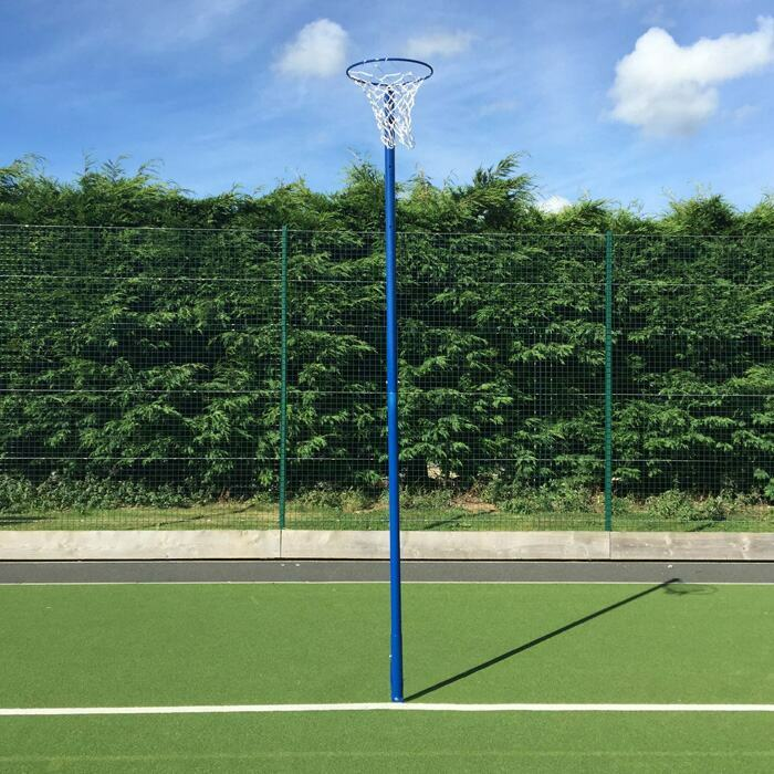 Galvanised Steel Netball Post With Adjustable Heights