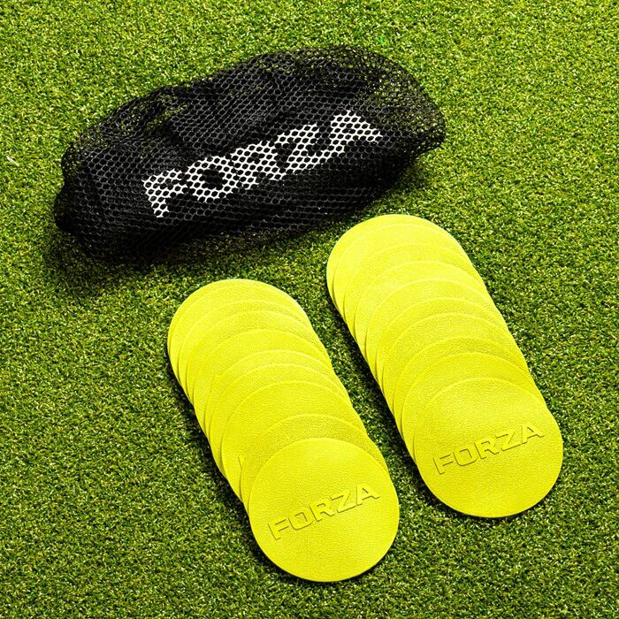 High-Visibility Football Pitch Markers | FORZA Mini Flat Discs