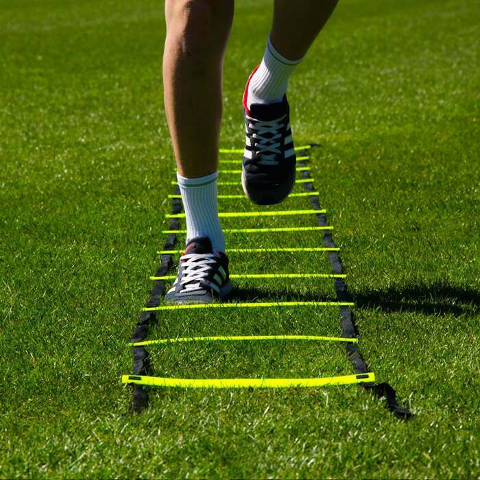Flat speed and agility training ladder