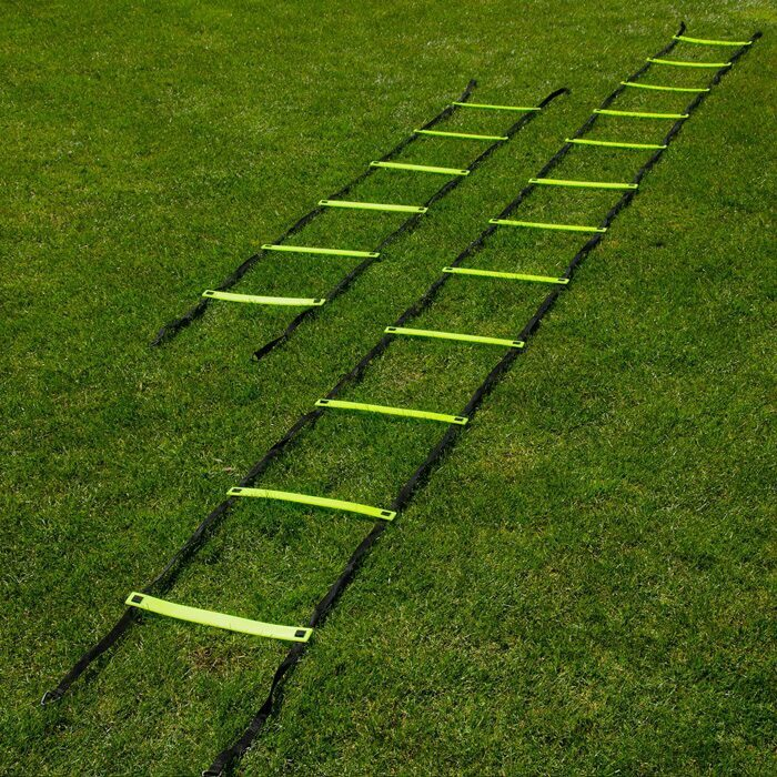 Two sized speed and agility training ladder