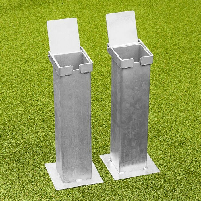 Flip Top Lid Ground Sleeve Sockets For Tennis Posts | Welded Steel Tennis Post Sockets