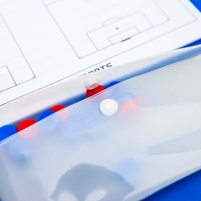 Lavagnetta magnetica A4 per allenatori di calcio | Lavagna magnetica per allenamenti
