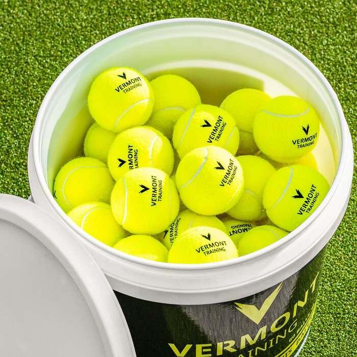 training cricket balls bucket