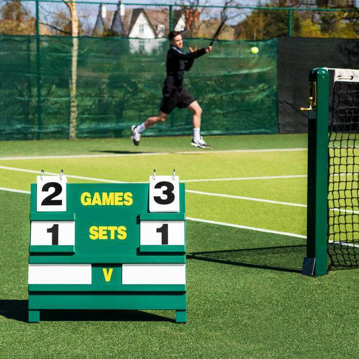 Portable Scoreboard For Tennis Courts | Traditional Wimbledon Green