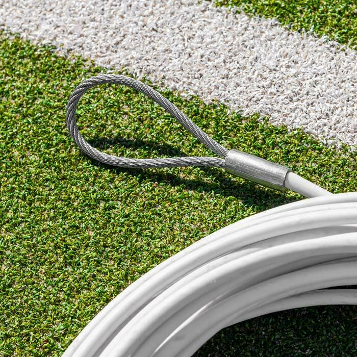 100% Weatherproof PVC Coated Steel Wire Cable | Tennis Net Equipment