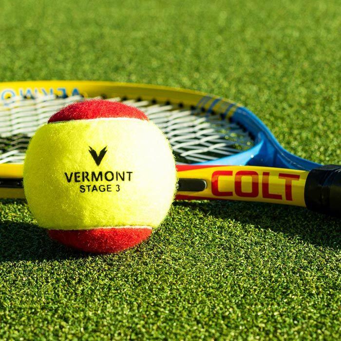 Bolas mini ténis vermelhas de Vermont | Equipamiento de treino