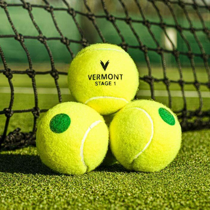 les de Mini-Tennis Vertes Approuvées par l'ITF | Balles de Tennis Niveau 1 pour les Enfants
