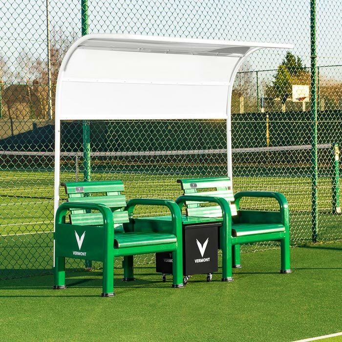 Tennis Court Chairs With Table | Tennis Court Shade Canopy