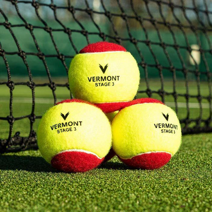 Bolas homólogas pela ITF em cor vermelho| Bolas ténis crianças