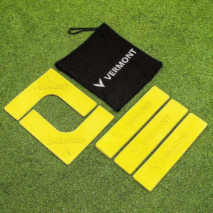 Ultra-Durable Tennis Court Markers | Pack Of 16 Throwdown Court Lines