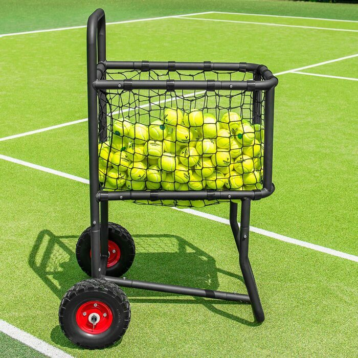 Easy Transport Tennis Ball Cart | Tennis Ball Carrier With Wheels