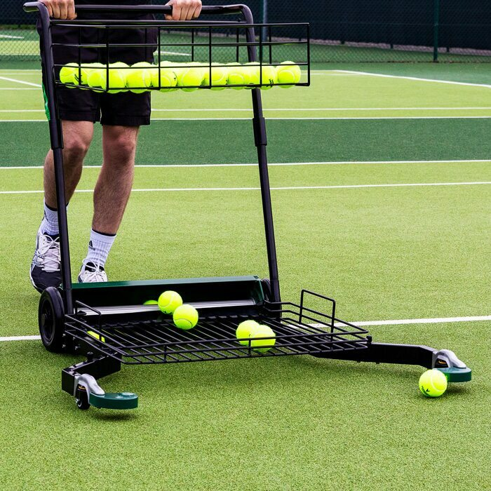 Easy Tennis Ball Collection | Tennis Ball Coaching Trolley