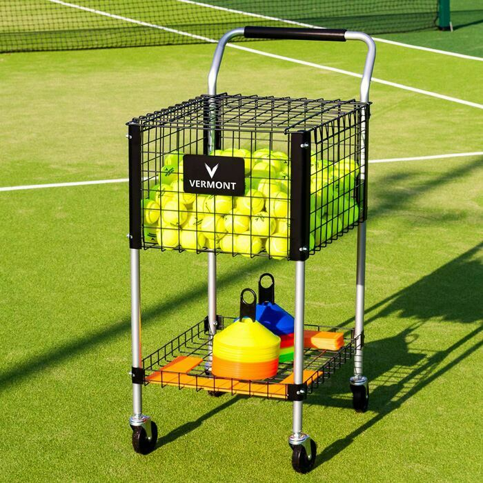 325 Tennis Ball Capacity Teaching Cart | Lockable Lid