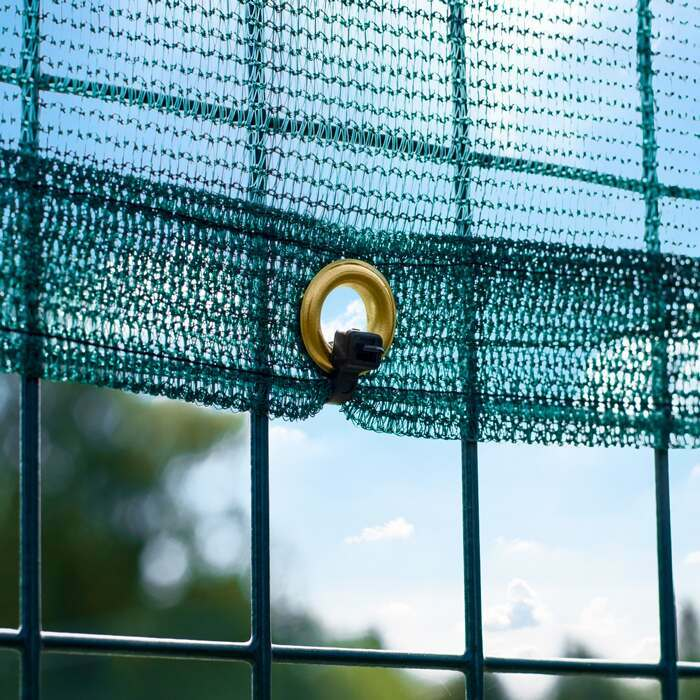 Rust-Resistant Brass Eyelets For Easy Hanging | Premium Court Windbreaks