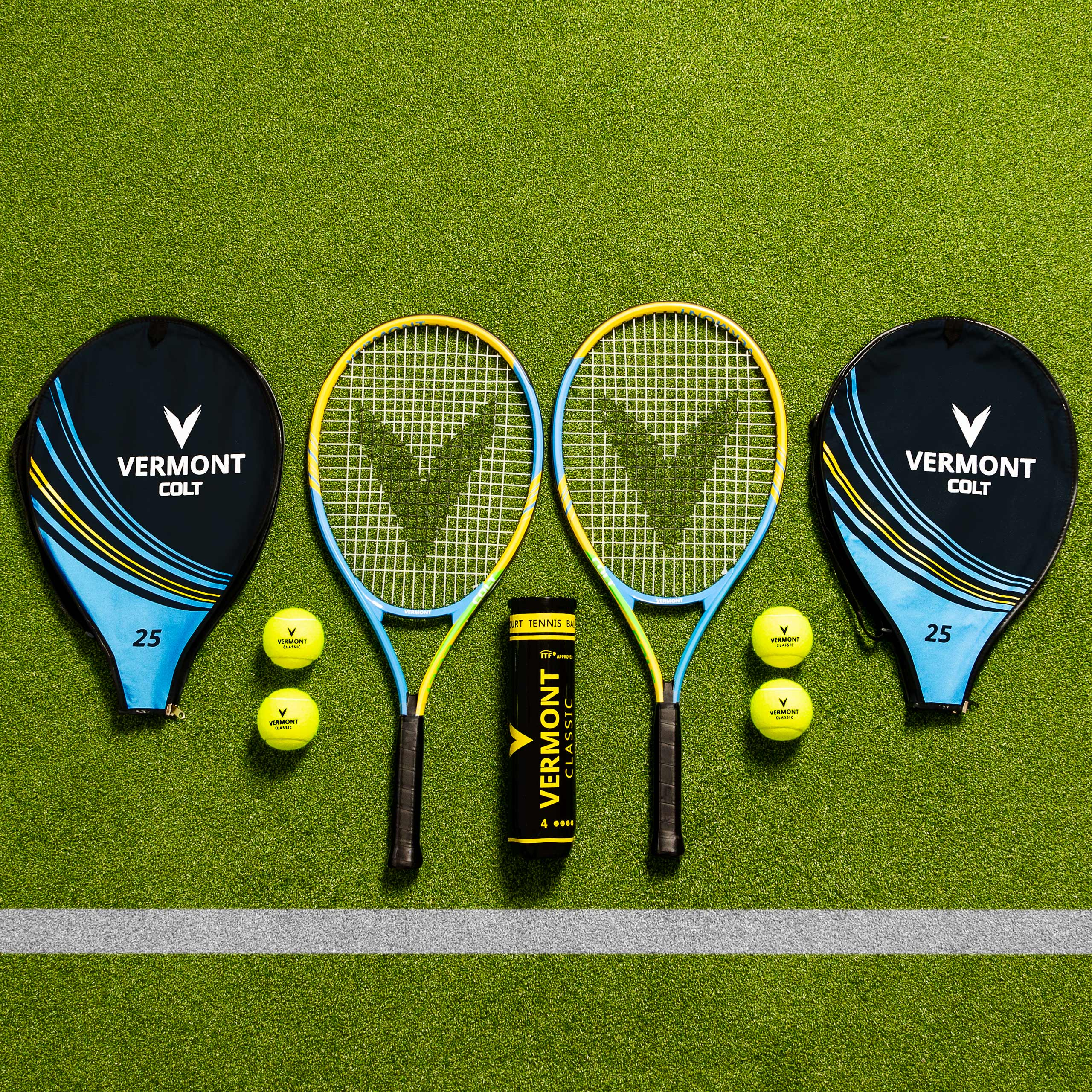 Vermont Tennis Racket & Ball Set | 2 Payers Singles Tennis