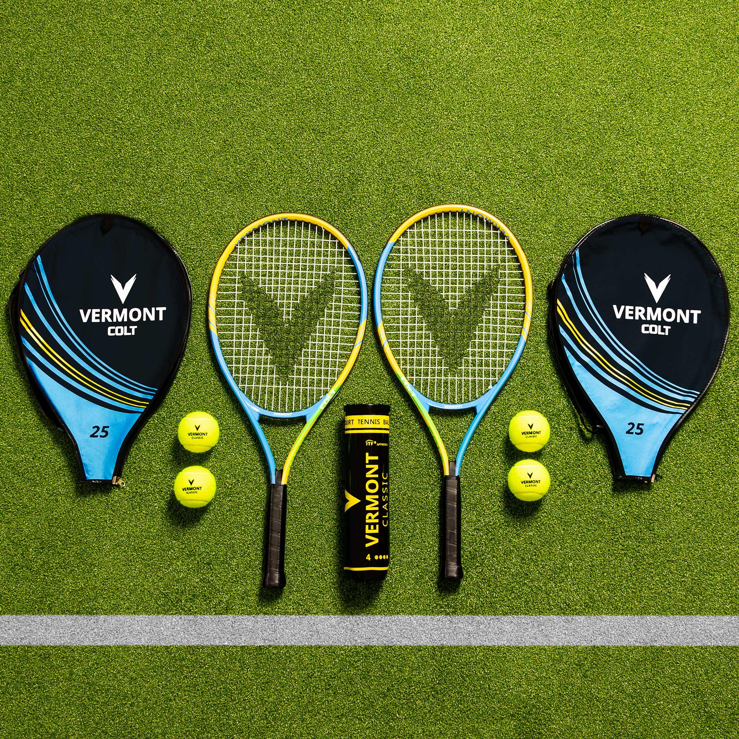 Vermont Set de Raquettes et Balles de Tennis | Tennis Simple de 2 Joueurs