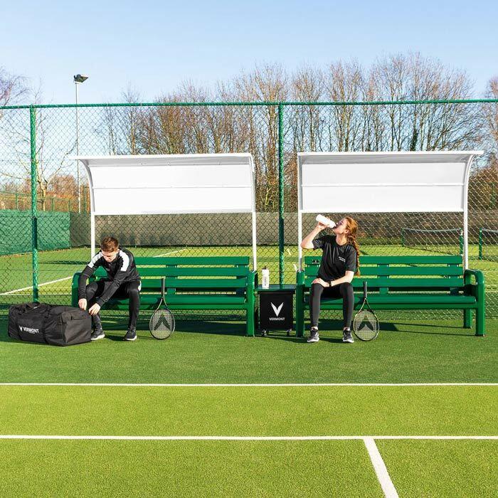 Bancs Pour Courts de Tennis Avec Table & Auvent | Bancs Pour Tournois