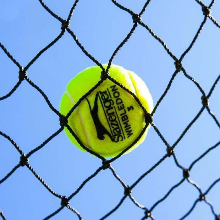 Tennis perimeter netting