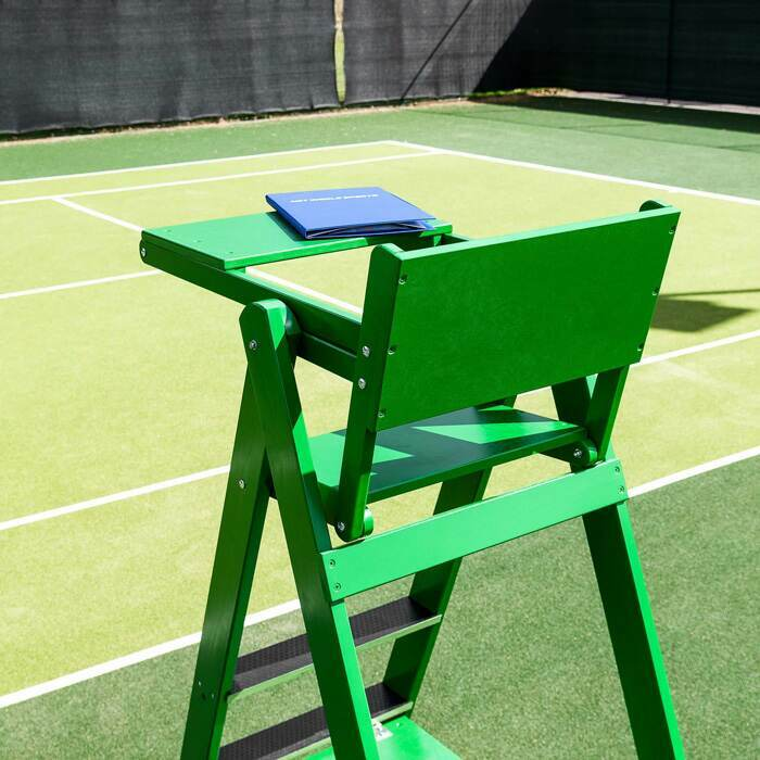 Unobstructed View Of Tennis Court With This Umpires Chair