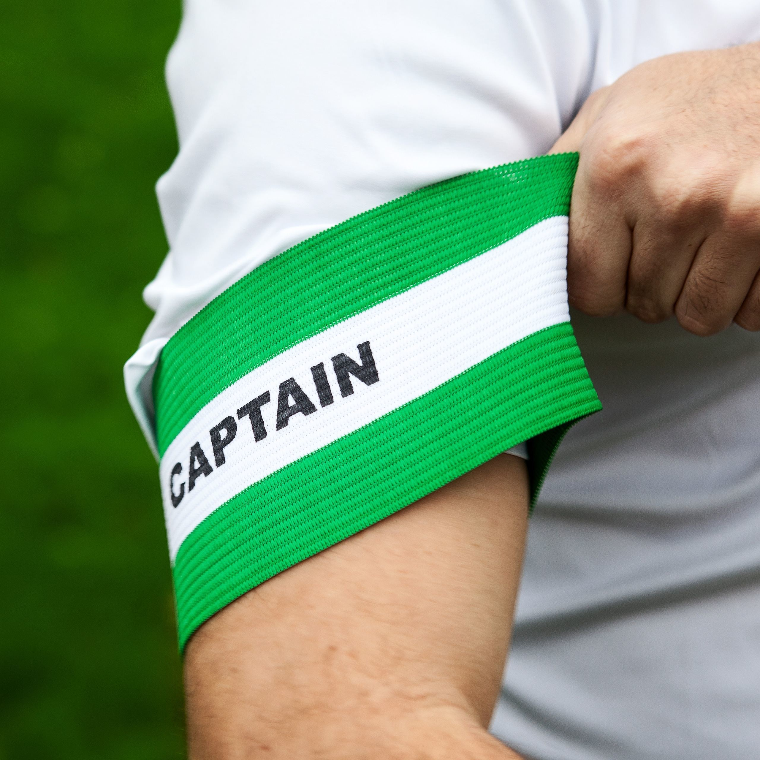 Green Captain Armbands Ideal For Soccer Clubs