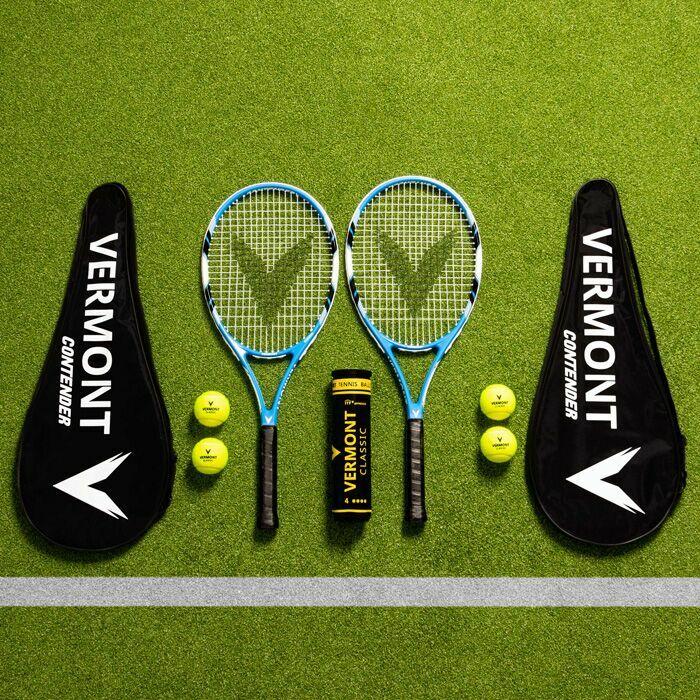 Racchette da tennis Vermont e palline | Set per partite di singolo