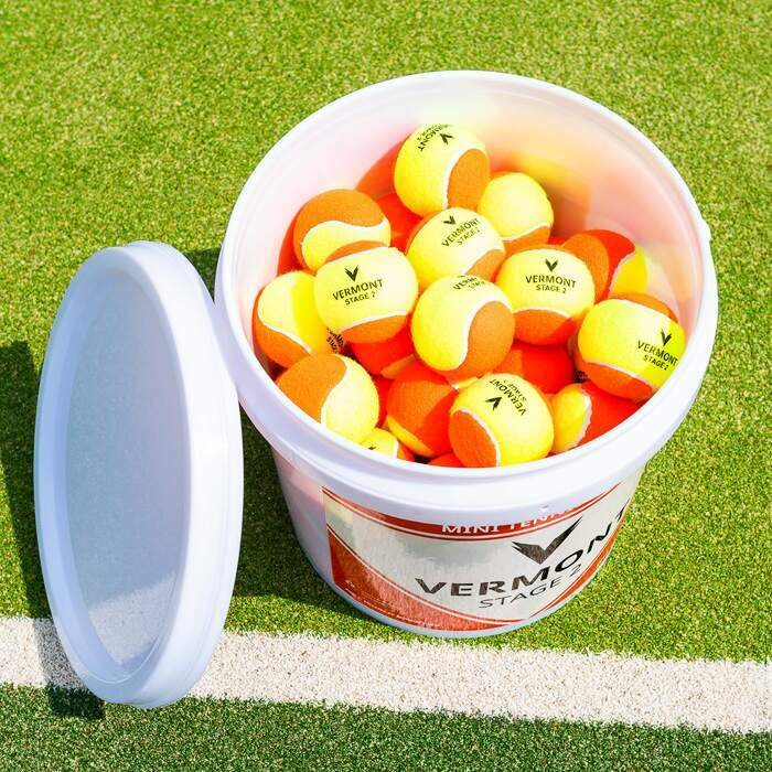 Bucket of Mini Orange Tennis Balls | Premium Mini Tennis Balls