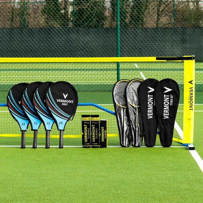 Ein komplettes Mini-Tennis & Badminton Set | Schule, Clubs & Familien, Tennis & Badminton Set
