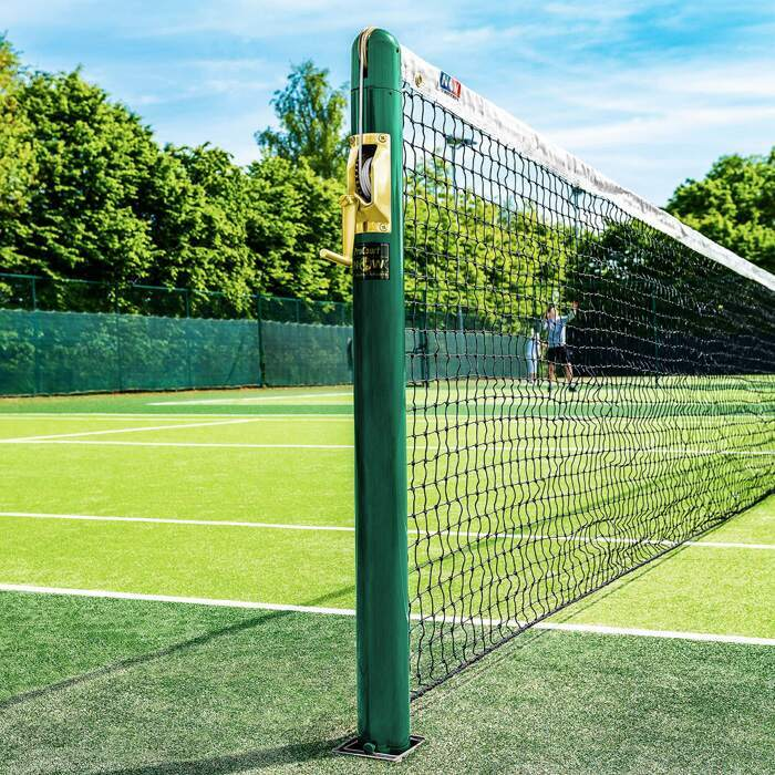 Wimbledon Green Vermont Tennis Posts | Round & Square
