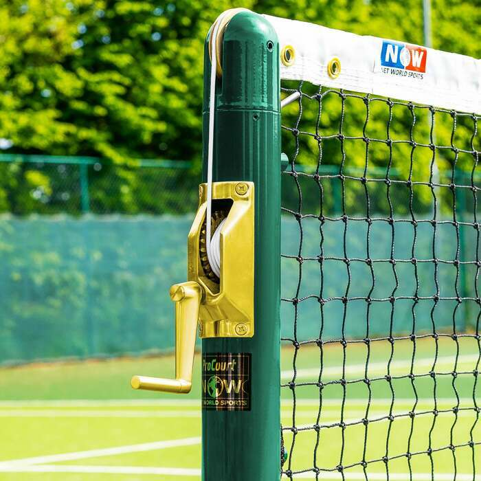 Round Tennis Posts With Brass Winder | Tennis Court Equipment
