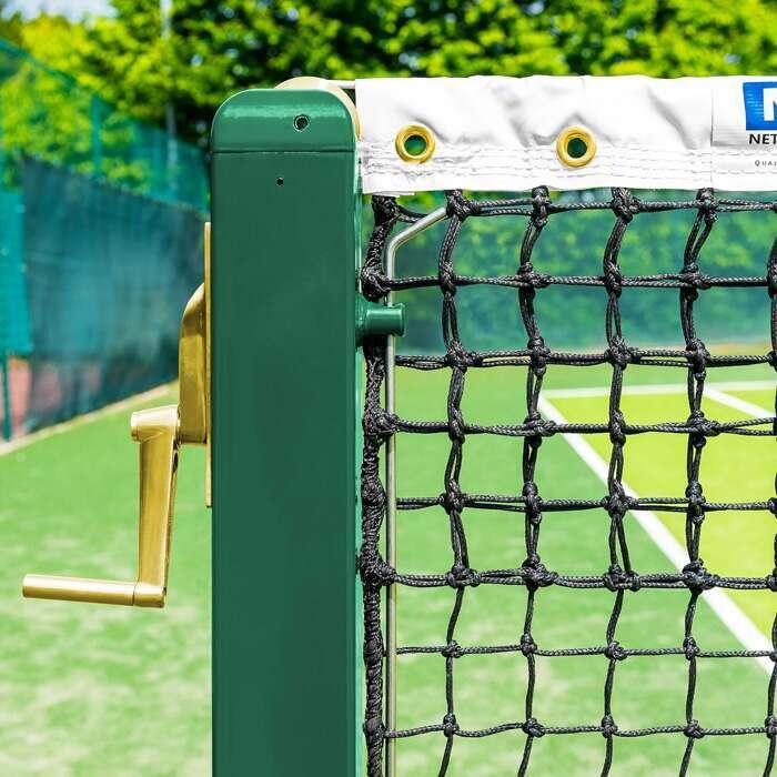 76mm Stål Hårdført Vermont Square Tennis Stolper