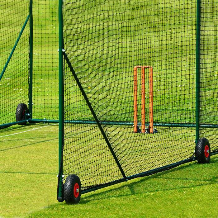 6 heavy-duty wheels | Mobile Cricket Cage