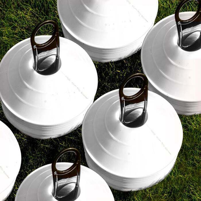 All White Football Training Marker Cone for Managers and Coaches