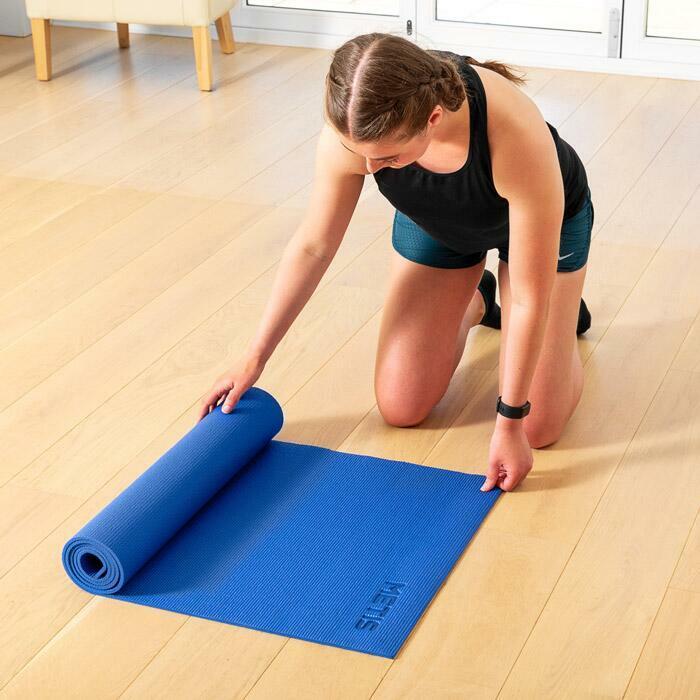 Oprolbare yogamat voor gemakkelijk transport