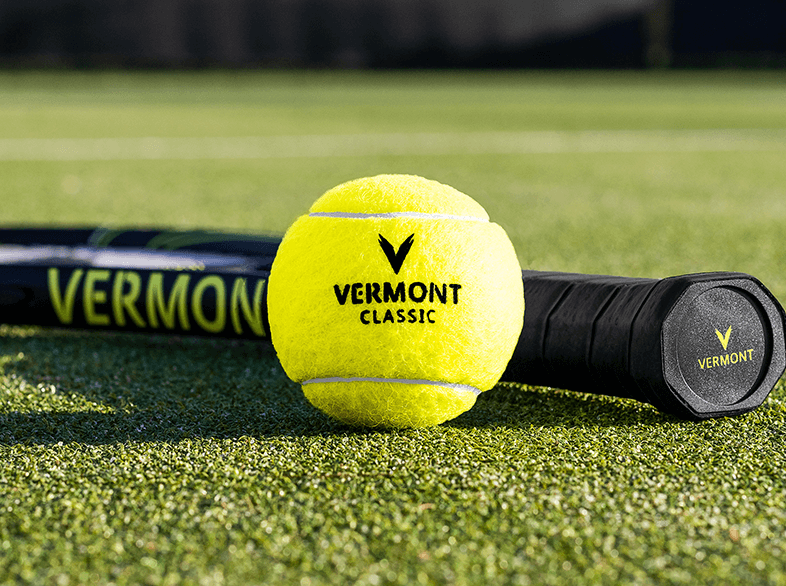 Vermont Classic Tennis Ball with Vermont Lunar Tennis Racket
