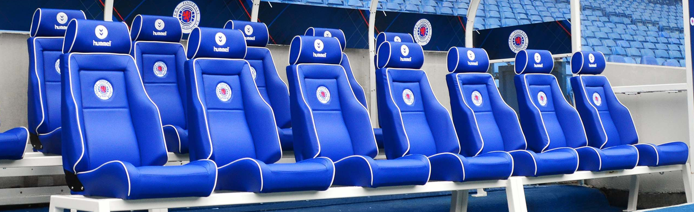 Net World Sports' Luxury Dugout Seats at Rangers FC