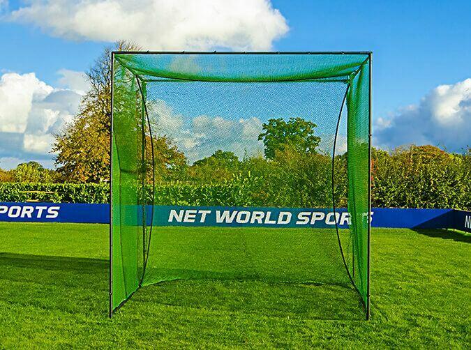 Freestanding golf practice cage