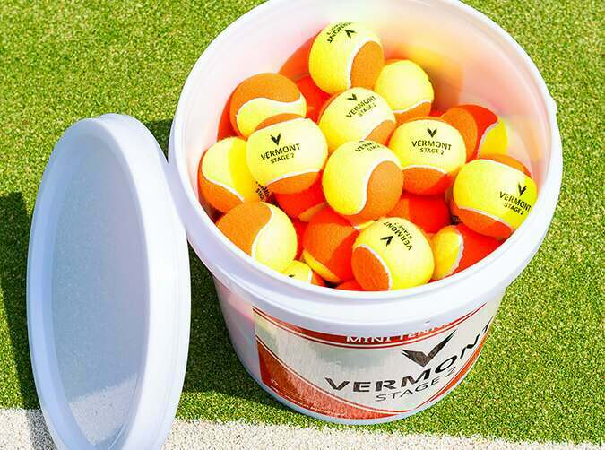 Vermont mini orange tennis balls