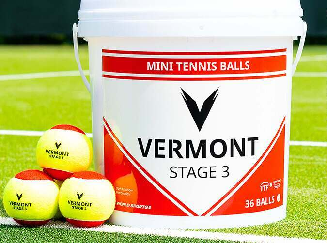 Vermont mini red tennis balls