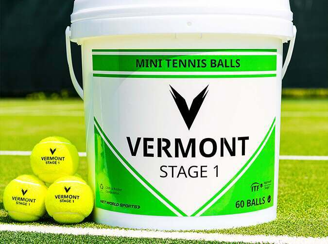 Vermont mini green tennis balls
