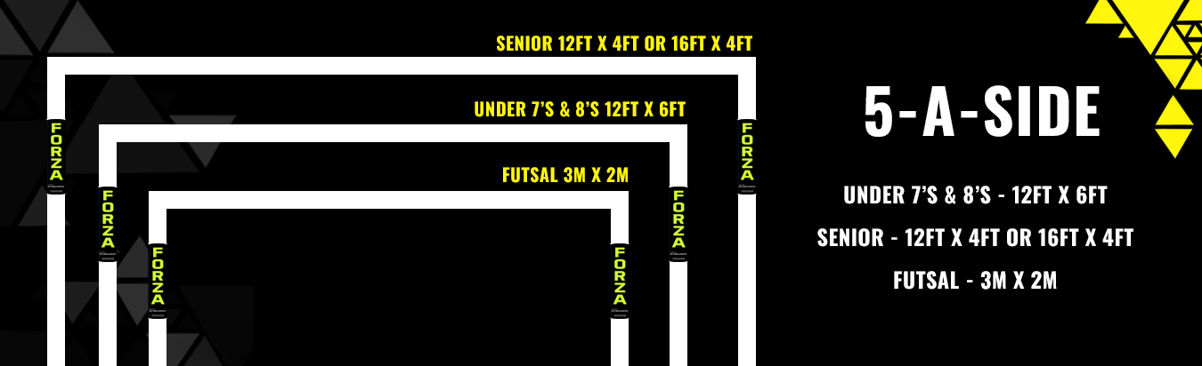 5 a side football goal sizes