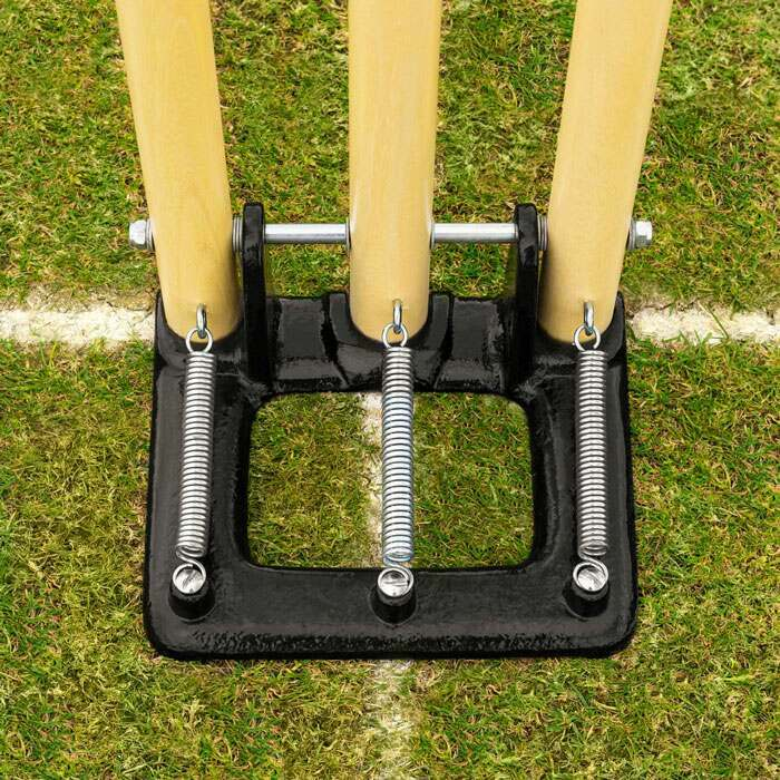 Spring Back Cricket Stumps | Heavy Duty Zinc Plated Springs