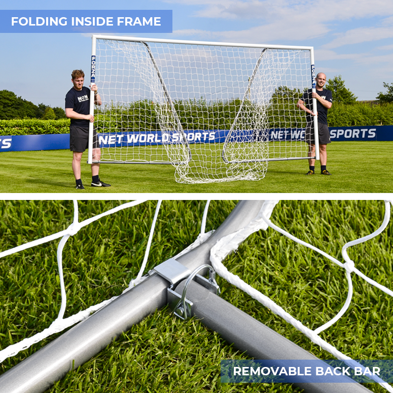 18.5ft x 6.5ft FORZA Alu60 Football Goals | Football Goal For All Age Groups